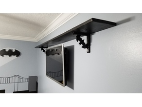 Batman shelf bracket 6in