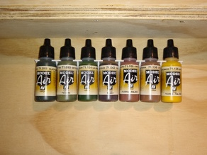 Vallejo type 17ml Paint Bottle Rack - with gussets