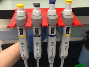 4 Pipette Shelf Holder