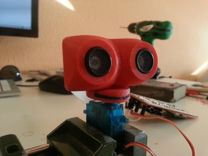 Case for URM37 Ultrasonic Distance Sensor  from DFRobot with Interface to Servo