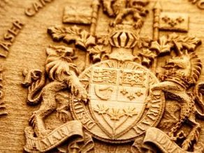 Laser Engraved 3D Wooden Coat of Arms