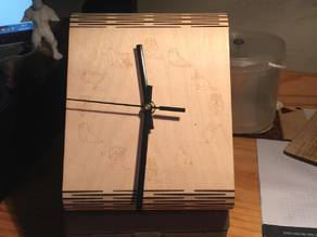 the plywood clock