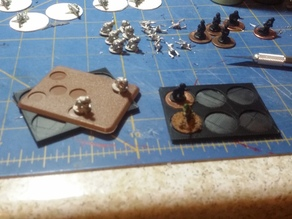 "3mm x 50mm x 65mm ""Penny"" base tray for 15mm wargames"
