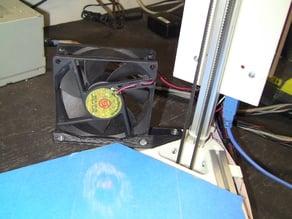 Kossel Mini Bed Cooling Fan Bracket 80mm