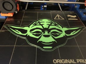 Yoda MultiColour Print