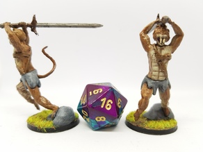 Tabaxi Barbarian for 28mm tabletop gaming