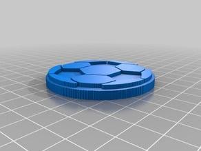 (3D Slash_keyring) Football ball