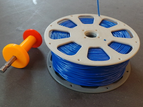 3D-printable split filament spool with threaded joint (135 mm)