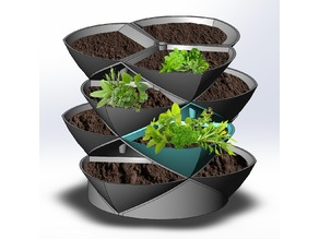 Stacking Planter Pods, a new concept in vertical, nesting herb and flower gardens - UPDATED to Version 2
