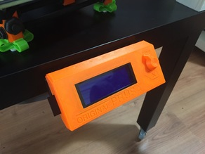 Prusa i3 LCD holder / support for IKEA LACK - removable