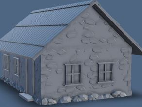 Parametric Miniature Game Stone House