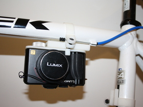 Camera mount for a bike.