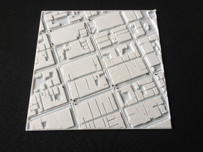 Tactile map of Melbourne with tram stops