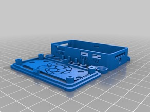 Raspberry Pi Zero case w. mounts