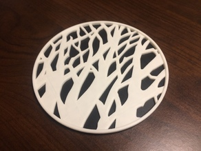 Tree Silhouette Coaster Remix (Single and Multi Colour)