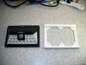 Halterung für eine LED Solarleuchte