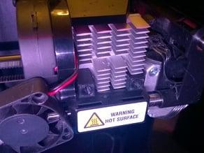 Improved Heatsink/Fan Spacers for MakerBot Replicator 2