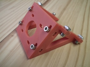 Adjustable Z-axis NEMA 17 mount bracket for 20x60 extrusion