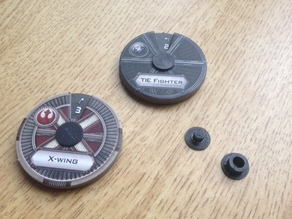 Star Wars X-Wing miniatures game maneuver disk/dial replacement rivets