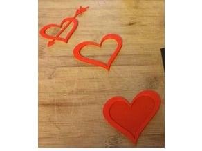 Romantic Heart Pierced by Cupid's Arrow