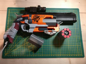 Break action rotor for: Spiralized Cylinder for the Nerf Hammershot 8-shot Mod