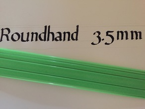 3.5mm Roundhand Ruler