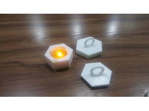 Caps for hexagonal candle holders