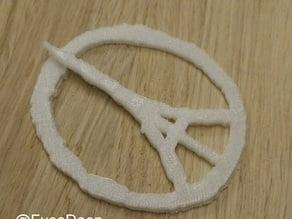 Paris Peace symbol - With clip/brooch.
