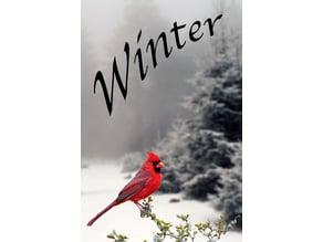 Winter garden flag