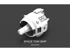 Space Tow Ship Mechanical Toy