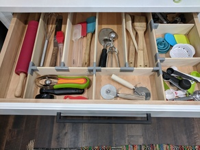 Kitchen Drawer Organizer Brackets/Braces