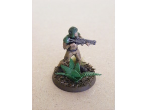 Jungle plants for 28mm wargaming