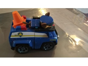 Traffic cone for Chase vehiculle Paw Patrol