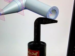 Glue gun tube cartridge angled tip
