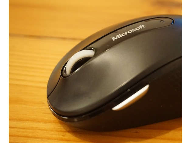 Rubber Wheel For Microsoft Wireless Mouse By Berlin Engineer Thingiverse