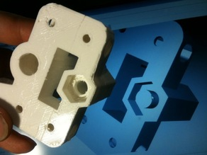 X-End Motor Bracket and Idler for prusa Mendel with Linear bearings.