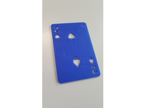 Two of spades playing card (2 de pique)