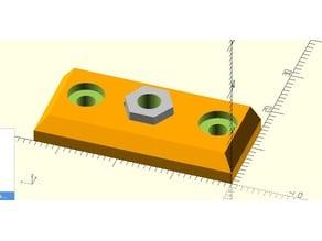 MMU2 Selector plate - metric nut variation