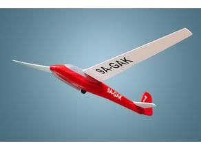 3D printed and painted: Schleicher K7 glider