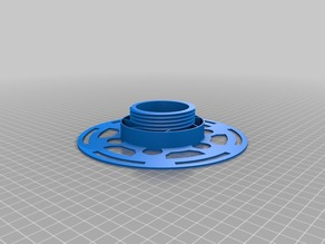 Threat spool for small filament skeins with outer diameter under 160mm