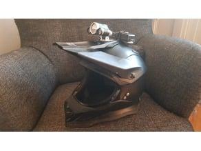 Lamp and battery holder for dirt bike helmet (motocross and enduro)