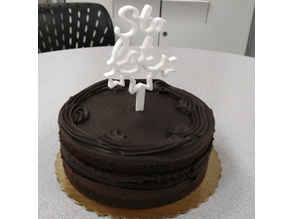 Sto Lat Birthday Cake Topper Decoration
