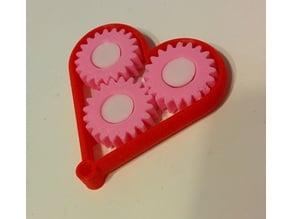 Milti-Color Gear heart