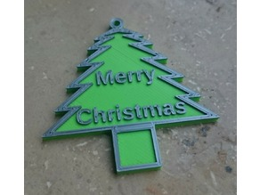 "Christmas tree tag  ""Merry Christmas"""