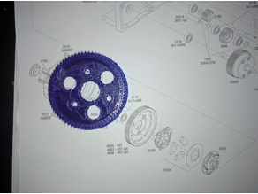 Spur Gear 73 tooth 46p for Traxxas Slash 2WD