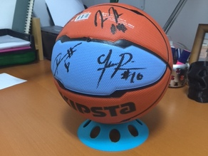 Support for a signed basketball ball