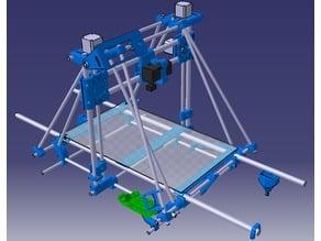 Prusa Mendel 500 x 300 3d Printer tested