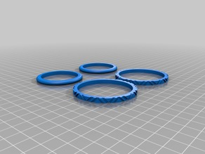 Tires for Fully 3D-printable wind-up car gift card by Bribro12