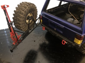 axial scx-10ii spare tire carrier
