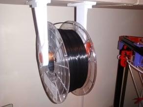 Parametric shelf-mounted filament holder